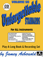JAMEY AEBERSOLD-UNFORGETTABLE STANDARDS:JAZZ PLAY-ALONG VOL.94 MUSIC BOOK/CD NEW