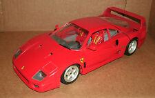 1/18 Scale 1987 Ferrari F40 Diecast Model Red Exotic Sports Car - Bburago 3032