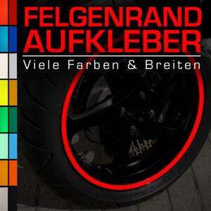 Reflektierende Felgenrandaufkleber 6 mm für Auto Motorrad Rot Blau Weiß Gelb