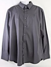 G-Star Men's Shirt Size XXXL Raw Correct  Black Cotton Elastane Core L/S