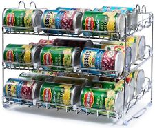 Stackable Food Can Dispenser Rack 3 Tier Storage Holder Kitchen Pantry Organizer