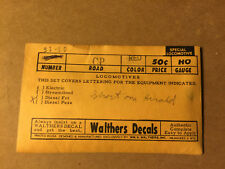 Walthers Canadian Pacific (CP) Diesel Locomotive Decals  HO Scale