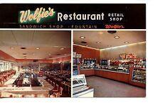 Wolfie's Restaurant-Retail Store-St Petersburg-Florida-Vintage Adv Postcard