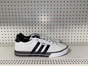 Adidas Daily 3.0 Mens Athletic Lifestyle Skate Shoes Size 13 White Black FW7049