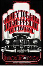 "Led Zeppelin,Country Joe and the Fish Fillmore West Concert Poster 13x19"" Photo"