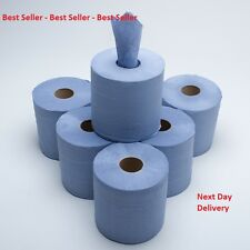 Centre Feed Rolls 2ply Blue Paper Wipe Towels 190mm Wide x 150mtr Long - Pack 6