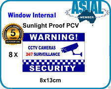 8 Window Internal Weatherproof PVC Sticker CCTV Camera Surveillance Warning Sign