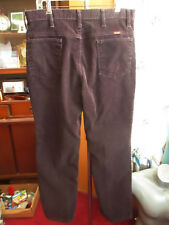 34x31 FIT True Vtg 80s RUSTLER BROWN Cords Bootcut Jeans USA