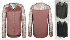 Taillenlange Damenblusen, - tops & -shirts im Kurzarm-Blusen