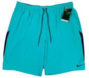 Men's NIKE Teal Blue Athletic Shorts Swim Trunks XXLT Tall NWT NEW NiCe!