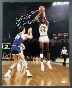 Elvin Hayes Signed Photo 16x20 Basketball Autograph Houston Rockets HOF JSA