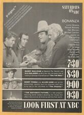 SATURDAYS ON NBC - BONANZA- 1960 Vintage Reader's Digest Print Ad