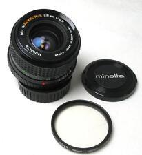 Minolta MD w.Rokkor-X 28mm F2.8 Lens w/Caps/Filter nr MINT for Sony/Mirrorless