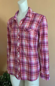 Eddie Bauer Hiking Fishing Outdoors Long Sleeve Shirt Women's Size L Pink