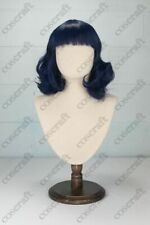 """Cosplay wig, curly with fringe, style name """"Bernie"""" in Navy"""