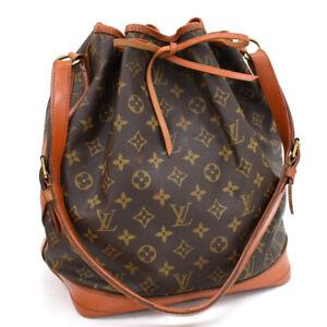 """""""Painted Leather"""" Auth LOUIS VUITTON Monogram Noe M42224 LV Shoulder Bag AI17049"""