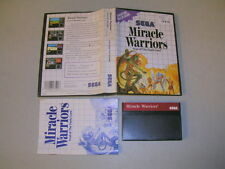 MIRACLE WARRIORS (Sega Master System SMS) Complete