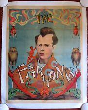 THE FAK HONGS - ORIGINAL CIRCA 1920'S MAGIC LB POSTER - OWLS, SNAKES & DEVIL ART