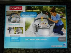 Fisher-Price Windmill On-the-Go Baby Dome Baby Tummy Time Portable Play yard New