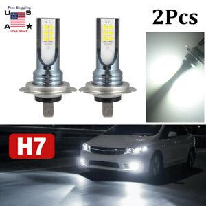 2pcs H7 LED 38000LM Super Bright 6000K White Headlight Bulbs Kit High / Low Beam