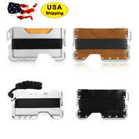 EDC Tactical Multi Tool Metal & Leather Wallet - up to 12 Card - Urban & Camping