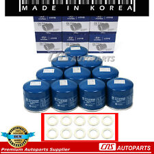 GENUINE Oil Filter w/ Washers 10PCS OEM 26300-35503 For 86-17 Hyundai Kia