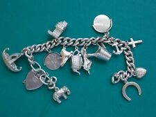 vintage silver stamped charm bracelet to restore metal detecting detector finds