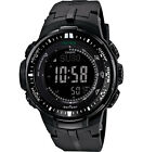 Casio Men's PRW3000-1A Protrek Black Triple Sensor Multi-Function Watch