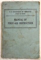 Vintage 1930 US Department Commerce Bureau of Mines Manual First Aid Instruction