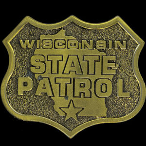 Wisconsin State Patrol Wsp Highway Trooper 1970s NOS Vintage Belt Buckle