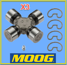 3 X Premium Driveshaft Universal Joint RWD/4WD Moog Greasable Expedited
