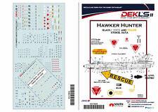 1/72 Hawker Hunter - Stencil Data Decals DEK L's II