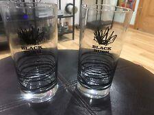 Black Bush Irish Whiskey Set Of Two Glasses Mixed Drinks Alcohol
