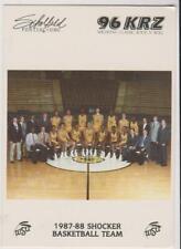 1987 local Wichita State University Shockers basketball team photo card, RARE!