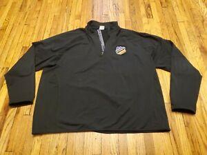 Minneapolis Storm Hockey long sleeve Black 1/4 zip Men's Size XXL 2XL Shirt
