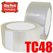 36 x Budget Clear Packaging Packing Sticky Tape 48mm x 75m Bulk Buy