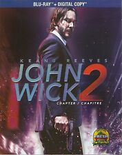 JOHN WICK CHAPTER 2 BLURAY & DIGITAL COPY SET with Keanu Reeves & Ruby Rose