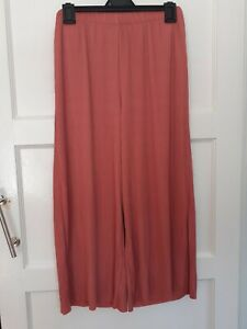 Asos Pleated Wide Leg Pink culottes Trousers. Size 12 NEW