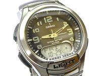 AQ-180WD-1B Casio Analog Digital Men's Watch 10 Year Battery Plastic Brand New