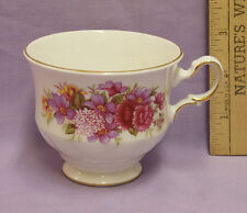 Vintage Queen Anne Bone China Cup White with Floral Design Made in England 8629