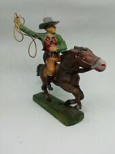 Elastolin ancien cavalier Cowboy au lasso