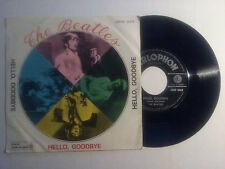 """BEATLES HELLO GOODBYE ITALY 7""""+PS PARLOPHON RARE WHITE SLEEVE WITH MISPRESS QMSE"""