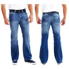 MENS BOOT CUT FLARED JEANS/PANTS  FREE BELT SIZES WAIST 30-42 SHORT REG  LONG