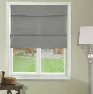 ASSORTED CHICOLOGY Runway Ready-Made Cordless Magnetic Fabric Roman Shade
