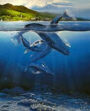 "Robert Lyn Nelson ""EXTINCTION IS FOREVER "" Hand Signed ~ Image 19 x 24 Whales UW"