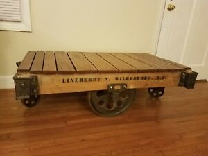 Restored Lineberry factory cart