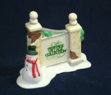 Village Sign With Snowman The Heritage Collection Department 56