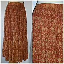 VINTAGE 70S HEAVY INDIAN COTTON MAXI SKIRT UK 12 14 BOHO FESTIVAL HIPPY