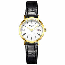 Women's Rotary Genuine Leather Strap Wristwatches