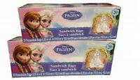 Disney Frozen Sandwich Bags 20 count - Bundle of 2